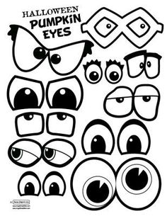Pumpkin eyes and mouths. This would make a fun singing time. Have a few blank pumpkins either paper or real, and write song names on the back of the eyes and mouths. Theme Halloween, Holidays Halloween, Halloween Pumpkins, Halloween Crafts, Halloween Decorations, Halloween Drawings, Fall Crafts, Holiday Crafts, Crafts For Kids