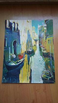 Luis Amer, Barcelona ( 1943 ). Título: Canal de Venecia. Litografía sobre papel firmada a mano. Ejemplar: 152/190. Medidas: 70 x 54 €. Precio: 60€.