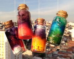 DIY 6 Nebula Constellation Bottle Tutorials