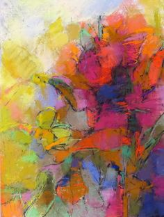 Flower Abstraction 22x16 pastel on paper by Debora L. Stewart