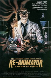 "Re-Animator is a 1985 American science fiction horror comedy film loosely based on the H. P. Lovecraft episodic novella ""Herbert West–Reanimator.""[2] Directed by Stuart Gordon, it was the first film in the Re-Animator series. The film has since become a cult film, driven by fans of Jeffrey Combs (who stars as Herbert West) and Lovecraft, extreme gore, and the combination of horror and comedy."