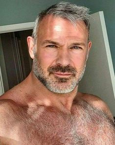 Handsome Older Men, Scruffy Men, Hairy Hunks, Hairy Men, Older Men Haircuts, Hot Beards, Mustache Styles, Hot Guys, Awesome Beards
