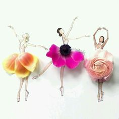 grafika flowers, art, and ballet Ballerina Art, Ballet Art, Ballerina Bedroom, Ballet Painting, Floral Fashion, Fashion Art, Fashion Trends, Flower Petals, Flower Art