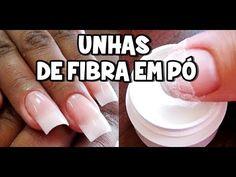 UNHAS DE FIBRA EM PÓ - TUTORIAL - YouTube