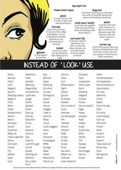 Instead of 'look' use