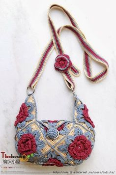 Outstanding Crochet: Interesting Crochet Bag. Charts #crochetbags #crochet