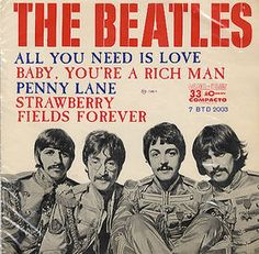 """June 25, 1967 The Beatles performed a new song, """"All You Need Is Love,"""" during a live international telecast."""