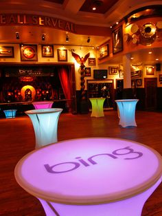 Gobo projection onto tabletop used an a medium for creating brand awareness. Corporate Event Design, Event Branding, Branding Design, Swag Ideas, Event Lighting, Event Decor, Event Ideas, Fun At Work, Creating A Brand