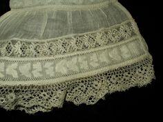 Antique Victorian Civil War Pair Undersleeves Bucks Bobbin Lace Whitework Trim | eBay