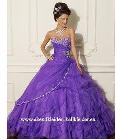A Linie Abendkleid Ballkleid Brautkleid in Lila