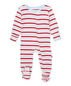 Another great find on #zulily! Balloon Stripe Footie - Infant & Kids by KicKee Pants #zulilyfinds