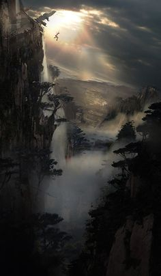 Leap of Faith - Lara Croft, Tomb Raider Tomb Raider 2013, Tomb Raider Game, Tomb Raider Lara Croft, Fantasy Places, Fantasy World, Fantasy Art, Final Fantasy, Environment Concept Art, Environment Design