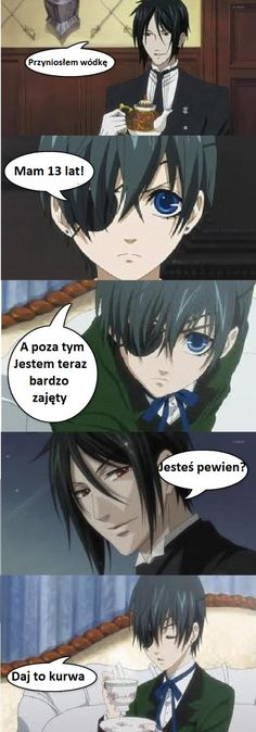 Śmieszkujemy z Anime ^^ - Kuroshitsuji Anime Meme, Manga Anime, Sebastian X Ciel, Very Funny Memes, Attack On Titan Funny, Sweet Pic, Wattpad, Black Butler, Sword Art Online