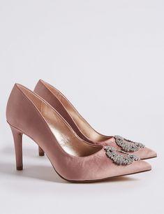 c112c235586 Stiletto Heel Jewel Pointed Toe Court Shoes