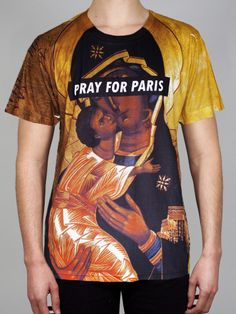 Image of Pray for Paris 'Gold' t-shirt (all over print)