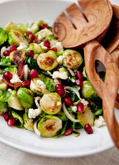 Wow my mouth is watering from looking at these sauteed bacon and blue cheese brussel spouts with pomegranate! With so many different flavors my taste buds will be praising this side dish! Can not wait to make it for my family and friends on Easter   food --- almost