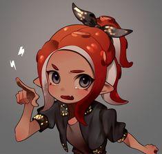 Splatoon Squid, Splatoon Memes, Splatoon 2 Art, Splatoon Comics, Game Character, Character Design, Anime Poses, Fanart, Anime Chibi