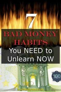 When it comes to our finances, we don't often realize that WE'RE the cause of most of our problems. Want to know how you can prevent that? Here are 7 Bad Money Habits You NEED to Unlearn NOW. Self Development, Self Improvement, Personal Finance, Did You Know, Budgeting, Things To Come, Money, Learning, Seo