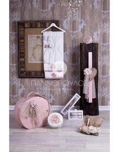 Αγαπη  σετ βαπτισης 364.00 E Christening, Shabby Chic, Paper Crafts, Frame, Wedding, Home Decor, Greek, Baby, Dressmaking