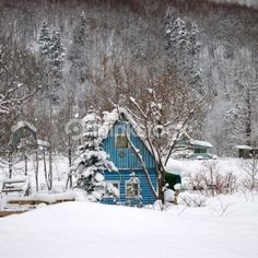 here is my dacha in the wintertime