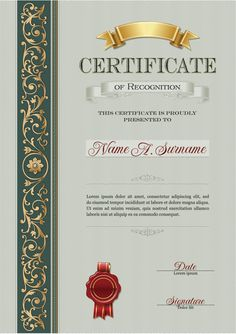Golden pattern, Green, Decorative Pattern, Skills Certificate PNG and Vector Certificate Of Recognition Template, Certificate Layout, Certificate Border, Blank Certificate Template, Certificate Background, Chocolate Bowls, Certificate Of Appreciation, Golden Pattern, Award Certificates