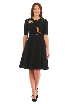 I <3 this Fox and the moon cotton knit dress from eShakti