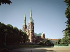 """St. John's Church  St. John""""s Church (Johanneksenkirkko) stands in Punavuori on the hill where midsummer bonfires take place. Representing the neogothic style, it is the largest stone church in Finland. The church was designed by Adolf Emil Melander from Stockholm"""