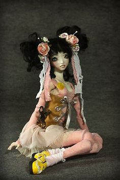 "OOAK 13.5"" FORGOTTEN HEARTS BJD Porcelain Doll - Ana Wind Up"