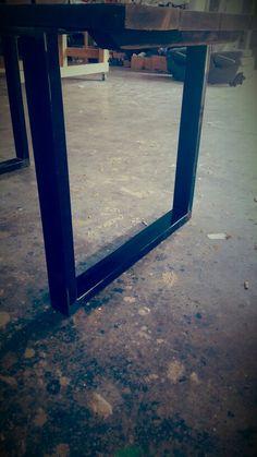 Gambe in ferro x tavolo da soggiorno xlab design made in italy