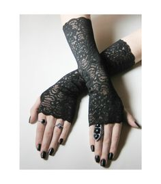 Hey, I found this really awesome Etsy listing at https://www.etsy.com/listing/181294124/belinda-black-floral-lace-arm-warmers-11