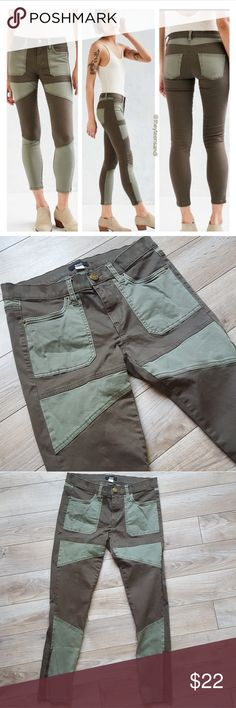 BDG Urban Outfitters army green pants These are a size 28 BDG Urban Outfitters Patched Jefferson khaki pants.  They are ankle pants with zippers at the bottom.  Excellent used condition. BDG Pants Ankle & Cropped
