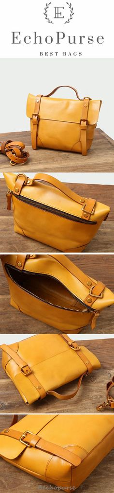 Vintage Leather Crossbody Bag, Fashion Purse, Messenger Bag For Women B346