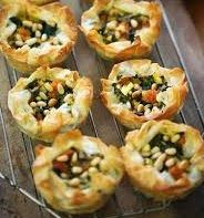 SNACKS: CHEESE AND PINE NUT PIE