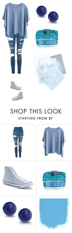 """""""blue"""" by duckfluffy ❤ liked on Polyvore featuring Topshop, Converse and Bling Jewelry"""