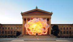 Cai Guo-Qiang, Fallen Blossoms: Explosion Project, 2009 © Cai Guo-Qiang