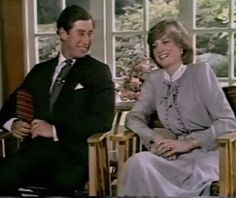 Prince Charles and Lady Diana being interviewed shorty before their wedding day. Diana, so pretty, 19 and so in love with her Prince.