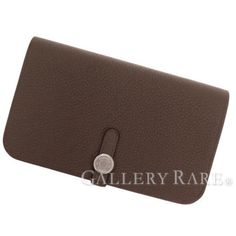 Authentic-Hermes-Wallet-Dogon-GM-Taupe-Stamp-R-Togo-Leather-France-GR-1768626