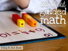 Ever wonder what to teach during your kindergarten Guided Math groups? This post is for you!!