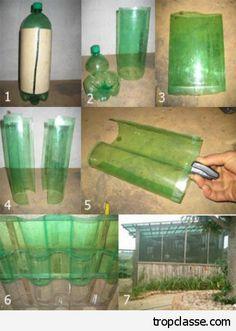 Faire un toit ondulé en bouteille recyclées