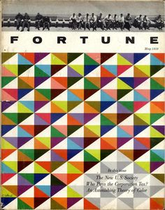 FORTUNE magazine cover, May 1959 #geometric #patterns