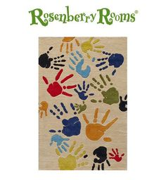 Love this Finger Paint Rug - would be fun in a child's classroom