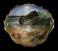 Lobster plate from the Rutherford B. Hayes state service, Theodore R. Davis      ;    Haviland et Cie.