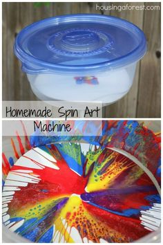DIY Spin Art Machine Kids love to do spin art here are some great ideas!
