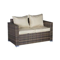 Oseasons OSKM1022SS-CS 2 Seater Oxford Rattan Modular Arm Sofa - Cappuccino  Discount from Β£229 To Β£183,99