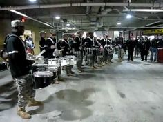 Army v. Navy Drumline DRUM-OFF! idk who won nor care just thought this was super cool!! hope you enjoy as well!