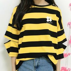 BTS Striped Open Elbow Women's Tee