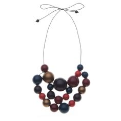 Pair this necklace with coral lipstick to make your look POP.  Interesting look
