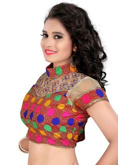 Buy Bridal Blouse from Mirraw Bridal Blouse Designs, Blouse Online, Embroidered Blouse, Crochet Top, Crop Tops, Fabric, Cotton, Beautiful, Women