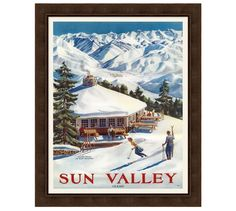 Shop ski posters from Pottery Barn. Our furniture, home decor and accessories collections feature ski posters in quality materials and classic styles. Sun Valley Idaho, Vintage Ski Posters, Vintage Holiday, Christmas Home, Merry Christmas, Pottery Barn, Skiing, Printer, Classic Cars