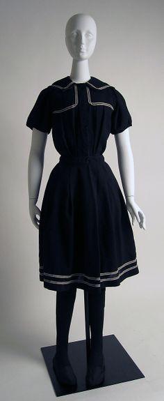 Beachwear (Bathing Suit)  Wanamaker's  (American)  Date: ca. 1900 Culture: American Medium: silk, wool, cotton